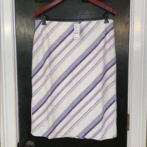White House Black Market striped pencil skirt 12